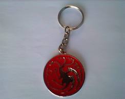 Chaveiro Casa Targaryen - Game of Thrones-medalha