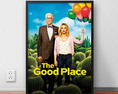 "Quadro ""The Good Place"" com moldura e vidro"