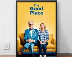 "Quadro decorativo ""The Good Place"" com moldura e vidro"