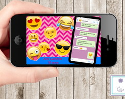 Convite Digital Emoji Emoticon WhatsApp