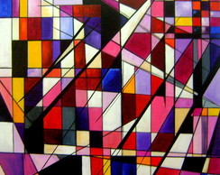 PAINEL ABSTRATO GEOMÉTRICO 60X60 COD 366