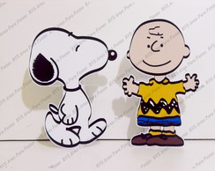 2 Displays de mesa - Snoopy e Charlie Brown