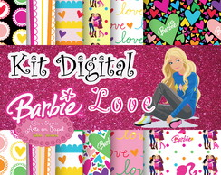 Kit Digital Barbie Love