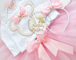 Kit fantasia tutu Minnie Rosa