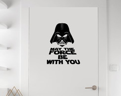 Adesivo Sinal Banheiro The force be with you ASN02