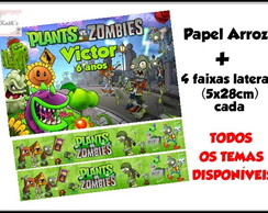 Papel arroz e 4 faixas laterais - PLANTS VS ZOMBIES