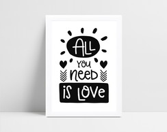 Quadro Digital All you need is love