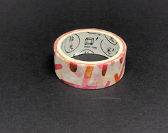 Washi Tape - Rabiscos Red