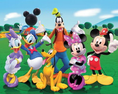 Painel Sublimado Turma do Mickey 2x1,5m