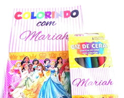 Kit Colorir com Giz - Princesas Disney