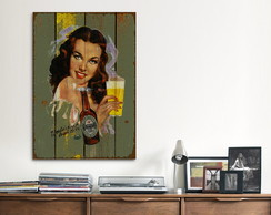Quadro Decorativo GRANDE Heineken Girl