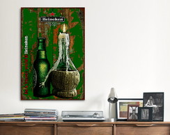 Quadro Decorativo GRANDE Heineken Bottle