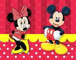 Painel Sublimado Mickey e Minnie 2,5x1,5m