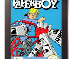 Quadro Poster Com Moldura Paperboy Nintendo Nes Video Game