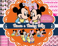 Kit Digital Minnie e Mickey baby