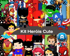 Kit Digital heróis Cute