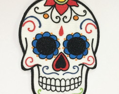 PATCH BORDADO CAVEIRA MEXICANA TUMBLR TERMOCOLANTE