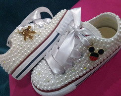 All Star baby com pérolas