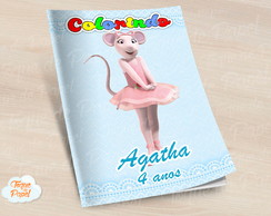 Revista colorir Angelina Bailarina