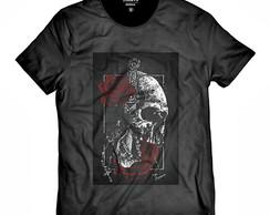 87b90f488b ... Camiseta Faca na Caveira e Rosas Vermelhas Swag DN