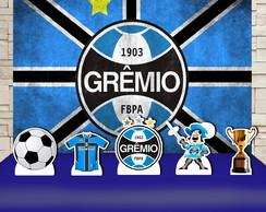 f6cc720c8e8716 Kit Festa Prata Painel + Display Time de Futebol Grêmio no Elo7 | Impakto  Visual (D63658)