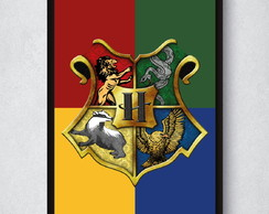 Quadro Harry Potter - Escudo Hogwarts