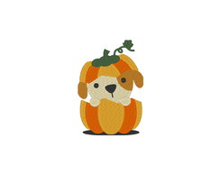 Patch Bordado Termocolante Cachorrinho Halloween