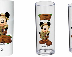 Copo long drink personalizados tema Mickey Safari