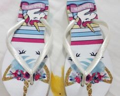 CHINELO ORIGINAL ESTAMPADA C/ESTAMPA SUBLIMAÇAO UNICÓRNIO