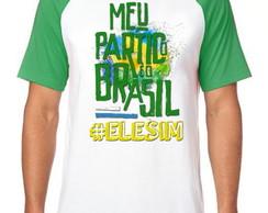d0f1ddb3da ... Camiseta Raglan Blusa Bolsonaro meu partido Brasil ele sim