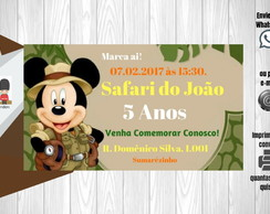 Convite Safari do Mickey - Digital