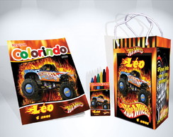 Kit de Colorir Hot Whells Revista Sacola Giz