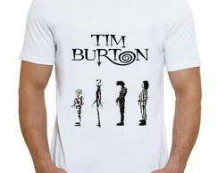 Camiseta Personagens Tim Burton Edward Jack Beetlejuice