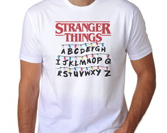Camisa Stranger Things Alfabeto Camiseta Stranger Things