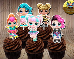 50 toppers para cupcake Lol Surprise