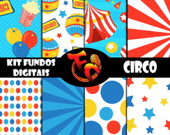 Kit Papel Digital - Circo