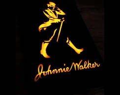 Luminoso Johnnie Walker 45cm x 28cm Preto Brilhante!