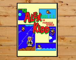 Poster Placa Decorativa Alex Kidd In Miracle World Mastersys
