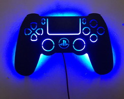 Controle Video Game PS4 Luminoso Decorativo DE PAREDE