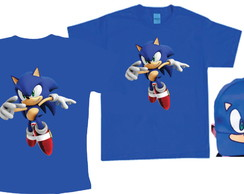Camisetas e boné do Sonic