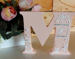 Letras Decoradas Gaiola - Rose
