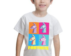Camiseta Fortnite Infantil Llamas Estampada