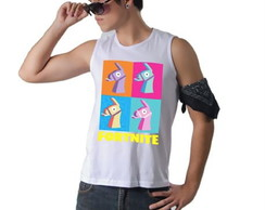 ... Camiseta Fortnite Llamas Regata Machão f952797e8ab