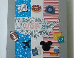 SCRAPBOOK - Album viagens Estados Unidos
