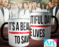 Caneca Grey's Anatomy - It's a Beautiful Day To Save Lives