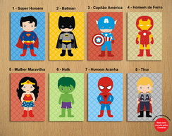 Poster Digital Super Herois Baby (Arquivo A4 para download)
