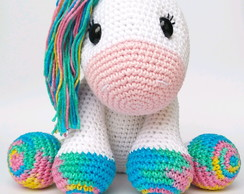 CROCHET PATTERN in English and Spanish - Mimi the Friendly Unicorn ... | 194x244