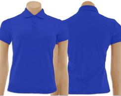 Camiseta Gola Polo Feminino Azul Royal