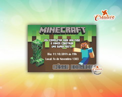 convite digital (virtual) Minecraft