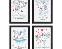 Quadro Para Quarto Frase Amor Namorados Moldura Preta 22x32 Elo7